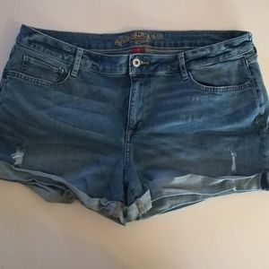 arizona shorts size 19 juniors blue distressed